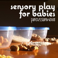 Sensory Play for Babies: Percussion Using Household Items